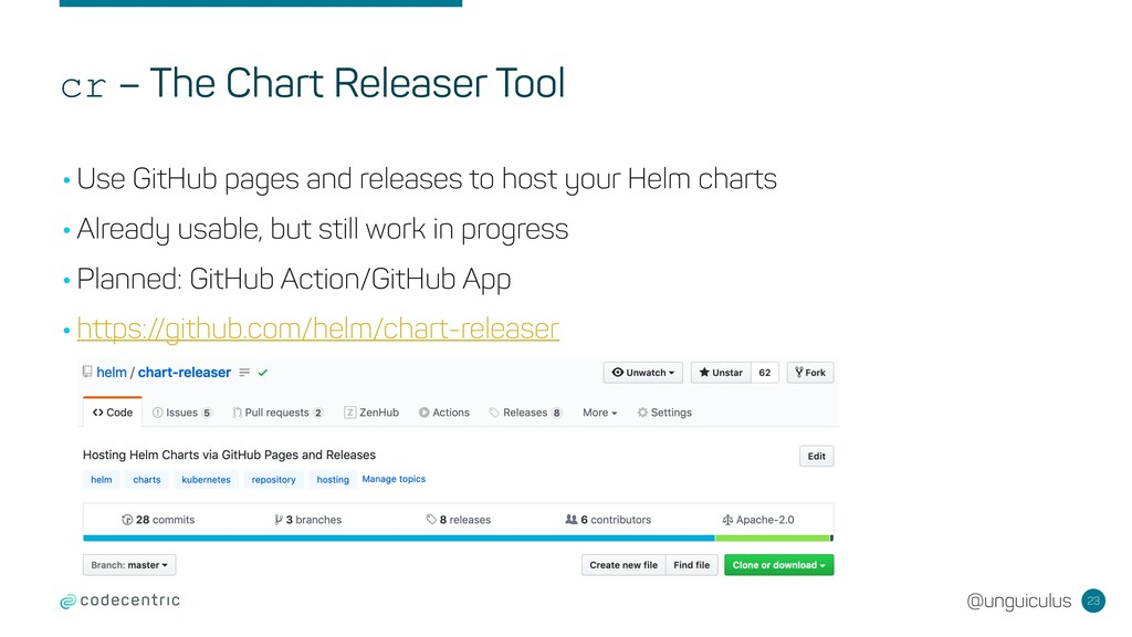 @unguiculus cr – The Chart Releaser Tool 23 •Us...