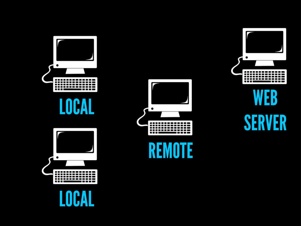 LOCAL LOCAL REMOTE WEB SERVER