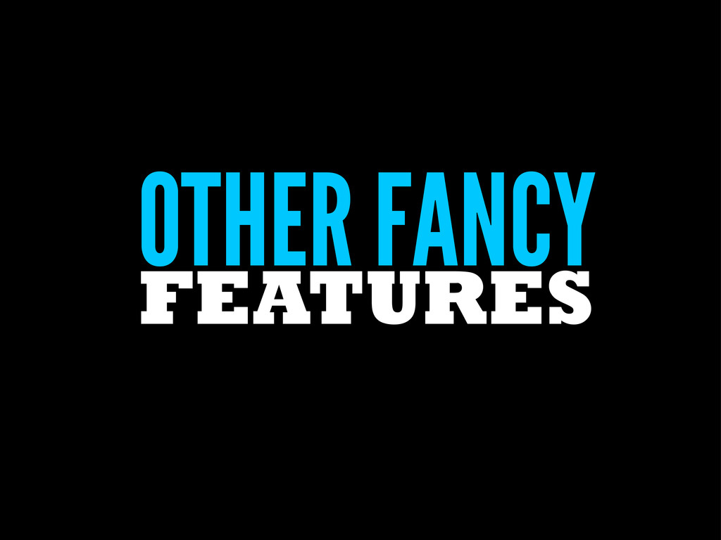 OTHER FANCY FEATURES
