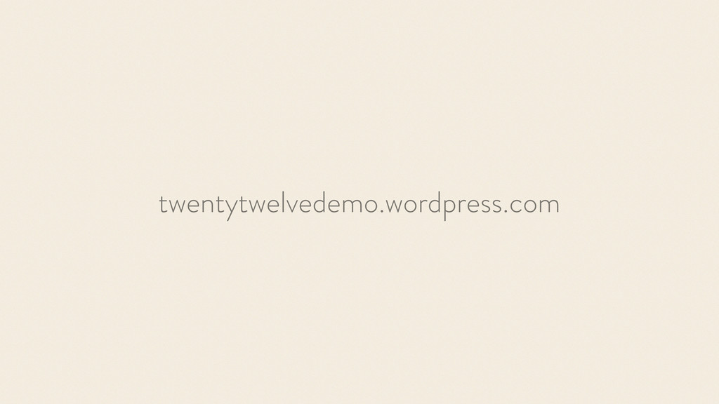 twentytwelvedemo.wordpress.com