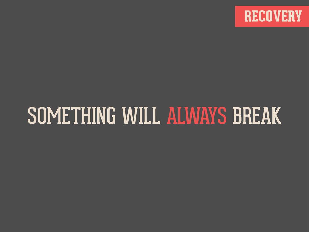 RECOVERY SOMETHING WILL ALWAYS BREAK