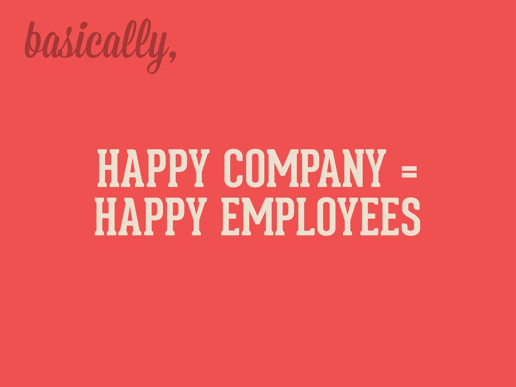 basica y, HAPPY COMPANY = HAPPY EMPLOYEES
