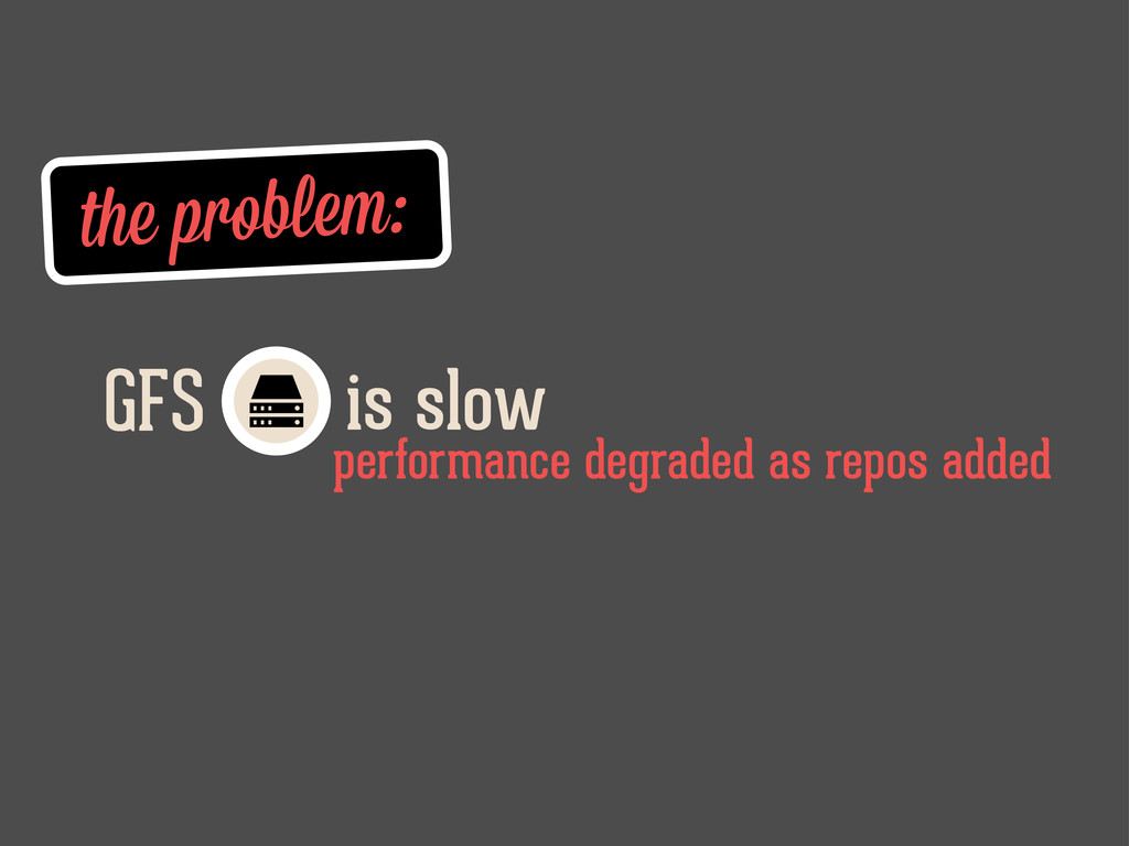 the problem: is slow GFS performance degraded a...