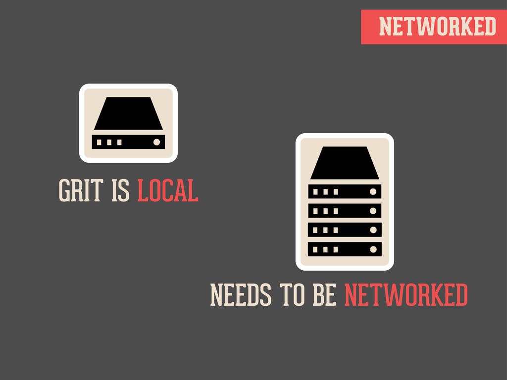 NETWORKED GRIT IS LOCAL NEEDS TO BE NETWORKED