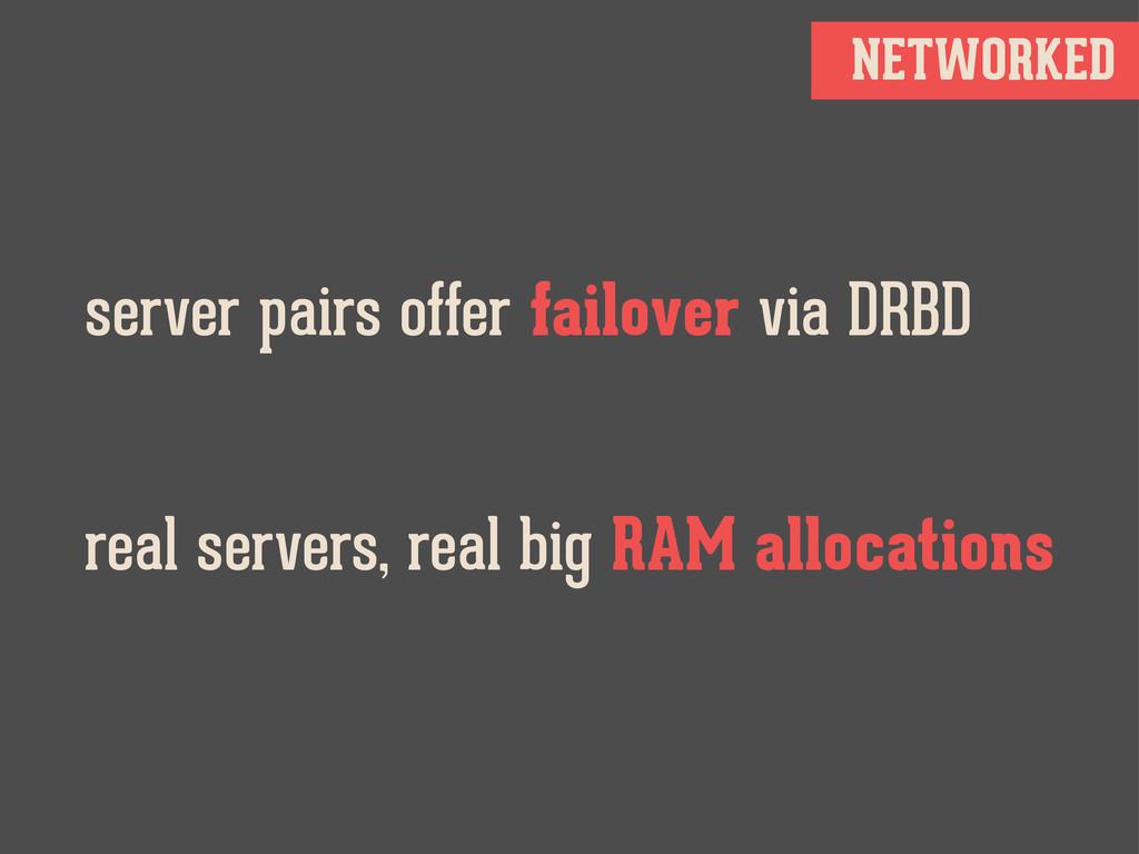 NETWORKED server pairs offer failover via DRBD ...
