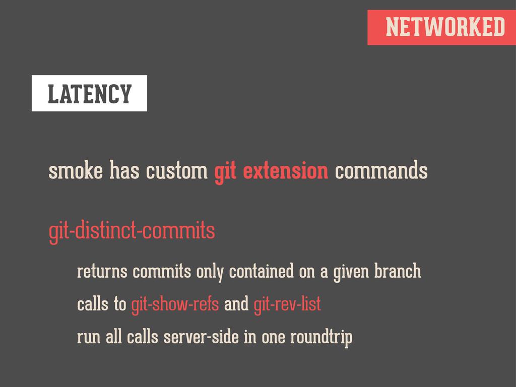 NETWORKED LATENCY smoke has custom git extensio...