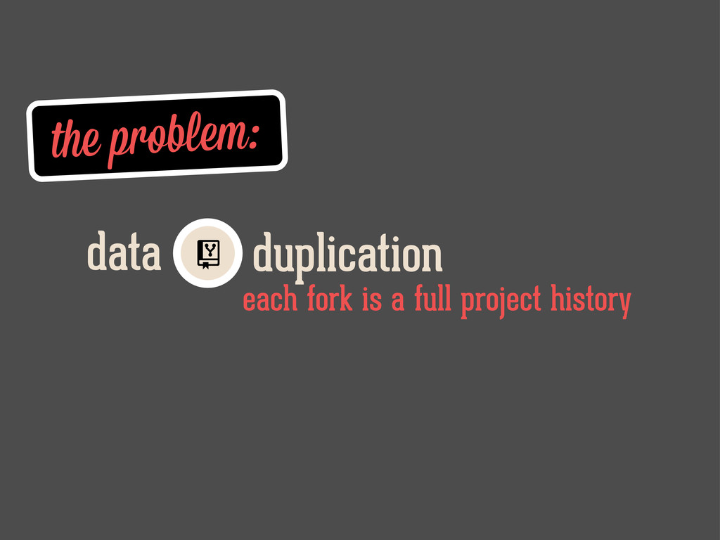 the problem: duplication data each fork is a fu...