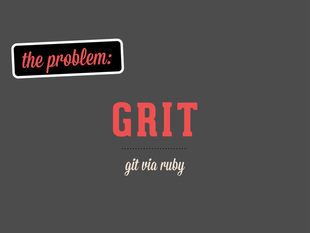 the problem: GRIT git via ruby