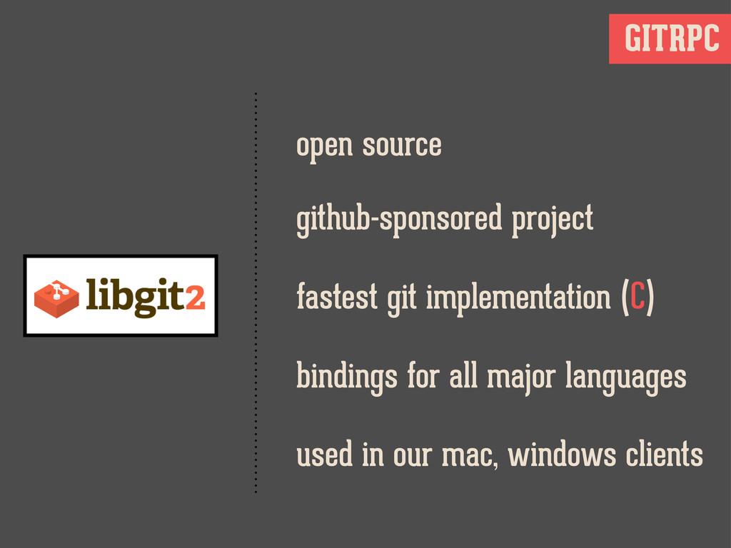 GITRPC open source fastest git implementation (...