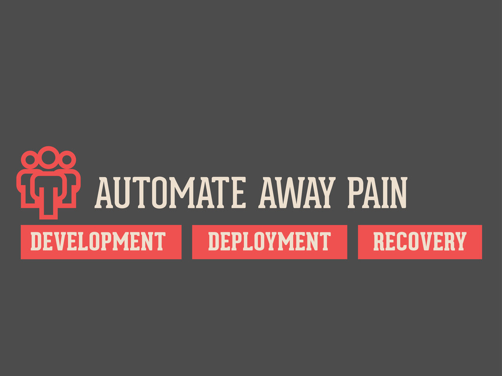 AUTOMATE AWAY PAIN DEPLOYMENT RECOVERY DEVELOP...