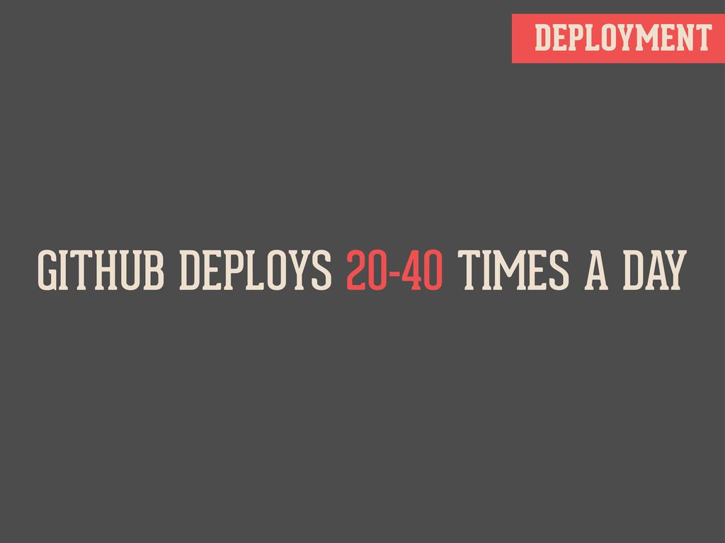 DEPLOYMENT GITHUB DEPLOYS 20-40 TIMES A DAY