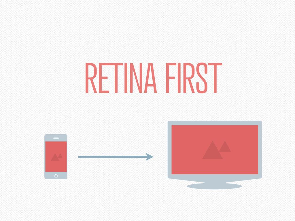 RETINA FIRST