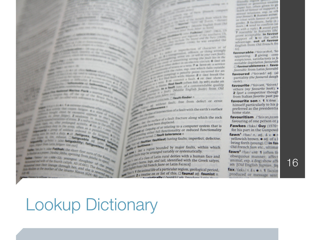 Lookup Dictionary 16