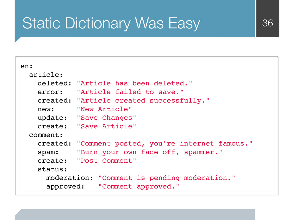 36 Static Dictionary Was Easy en: article: dele...
