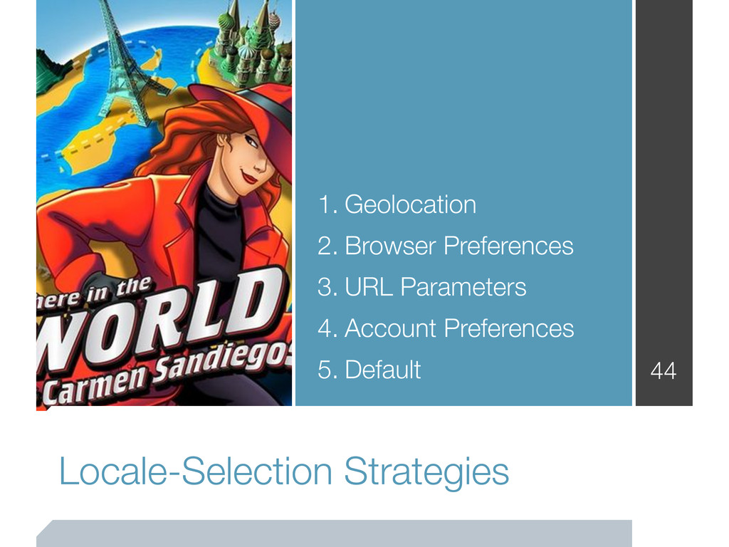 Locale-Selection Strategies 44 1. Geolocation 2...