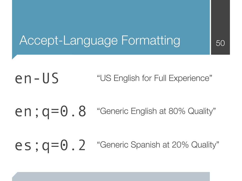 "Accept-Language Formatting 50 ""US English for F..."
