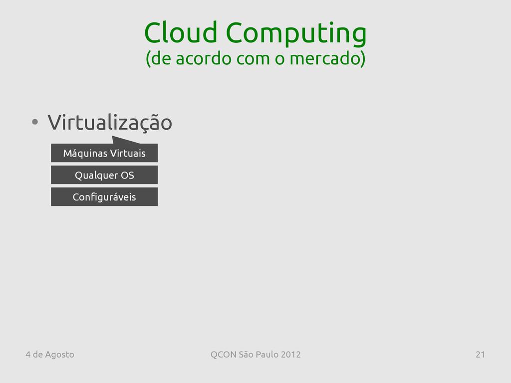 4 de Agosto QCON São Paulo 2012 21 Cloud Comput...