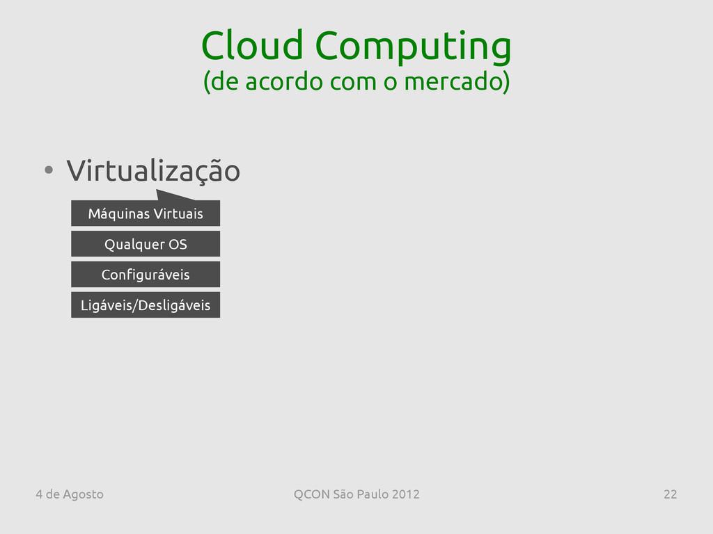 4 de Agosto QCON São Paulo 2012 22 Cloud Comput...