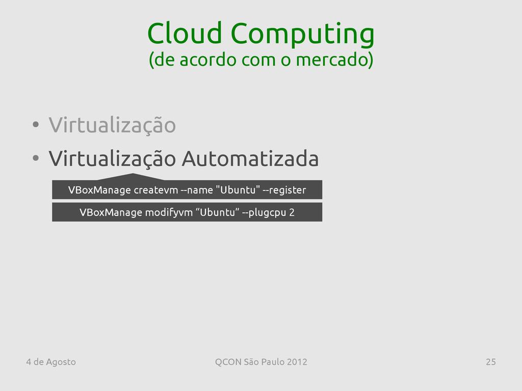 4 de Agosto QCON São Paulo 2012 25 Cloud Comput...