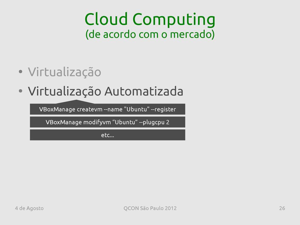 4 de Agosto QCON São Paulo 2012 26 Cloud Comput...