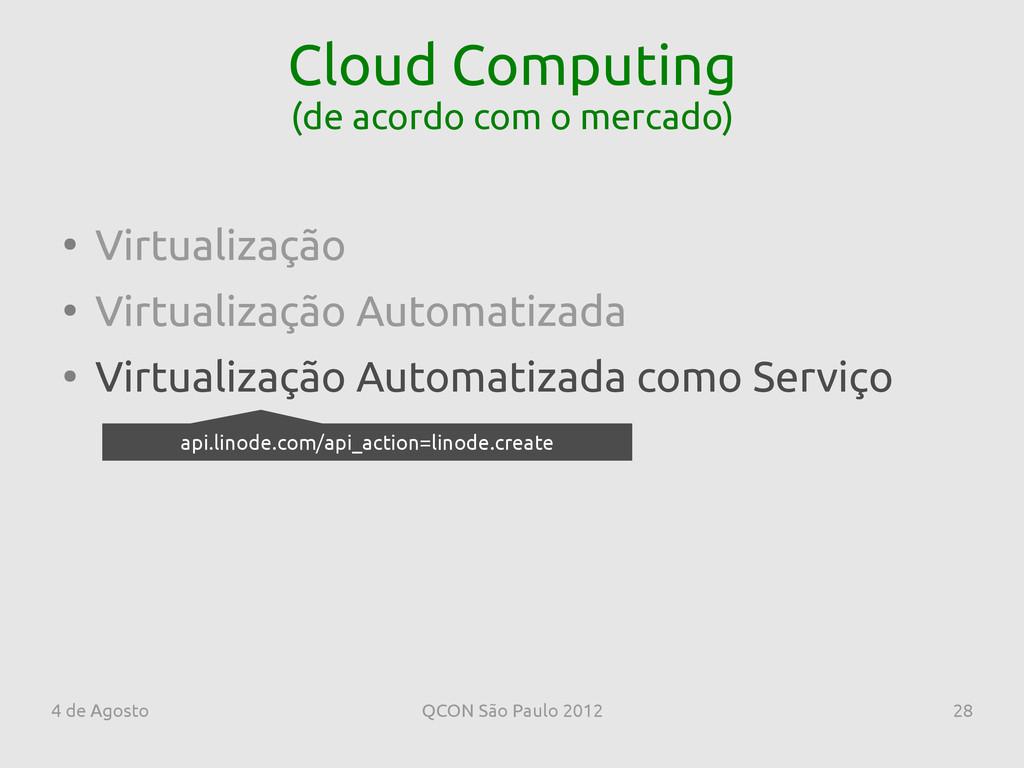 4 de Agosto QCON São Paulo 2012 28 Cloud Comput...