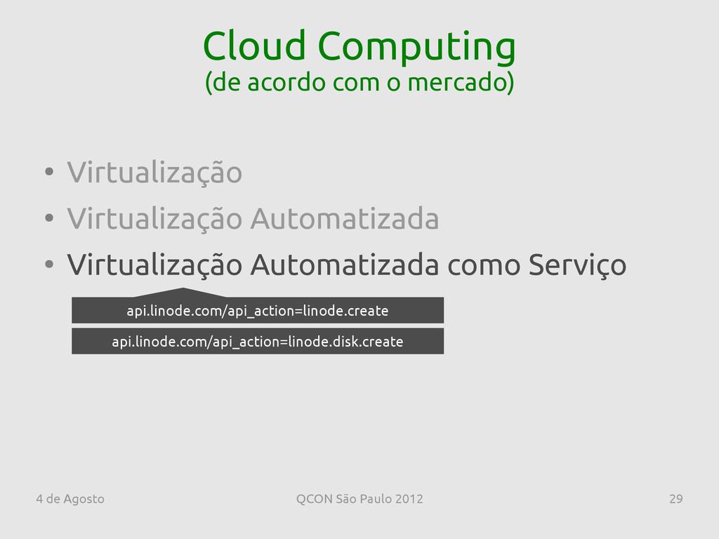 4 de Agosto QCON São Paulo 2012 29 Cloud Comput...