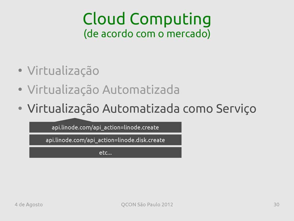 4 de Agosto QCON São Paulo 2012 30 Cloud Comput...