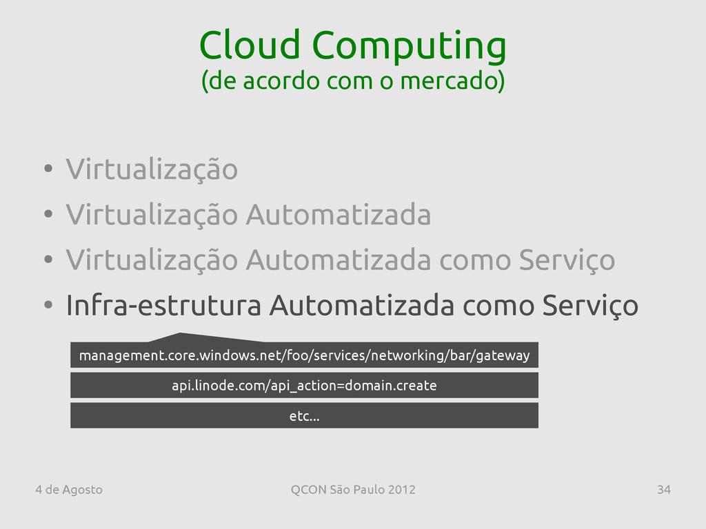 4 de Agosto QCON São Paulo 2012 34 Cloud Comput...