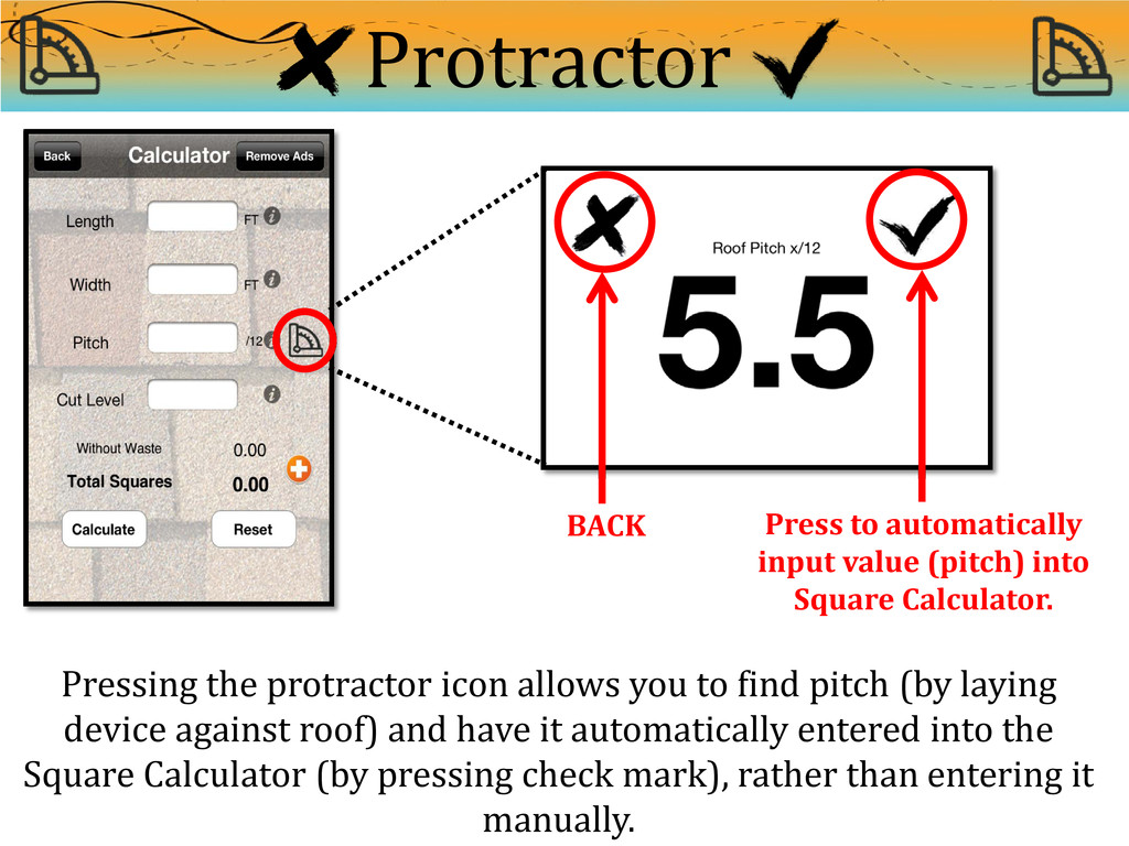 Protractor BACK Press to automatically input va...