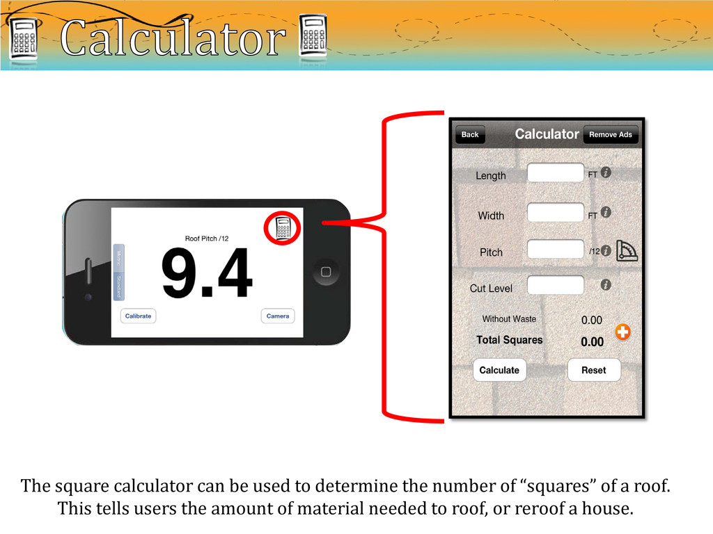 The square calculator can be used to determine ...