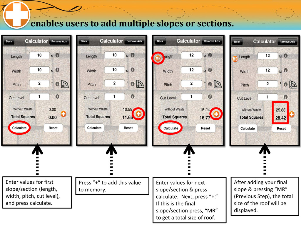 enables users to add multiple slopes or section...