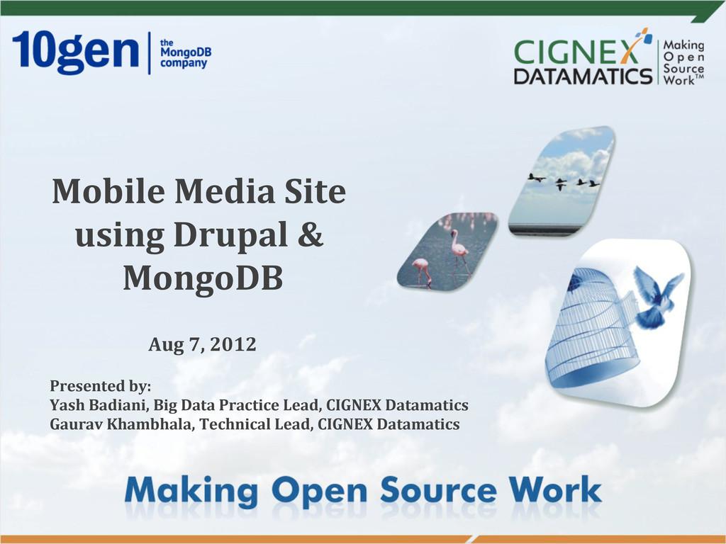 Mobile Media Site  using Drupal ...