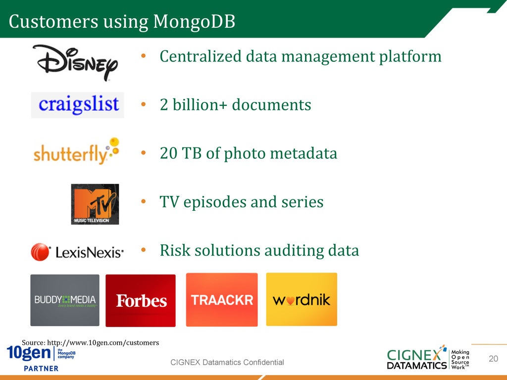 CIGNEX Datamatics Confidential Customers usi...