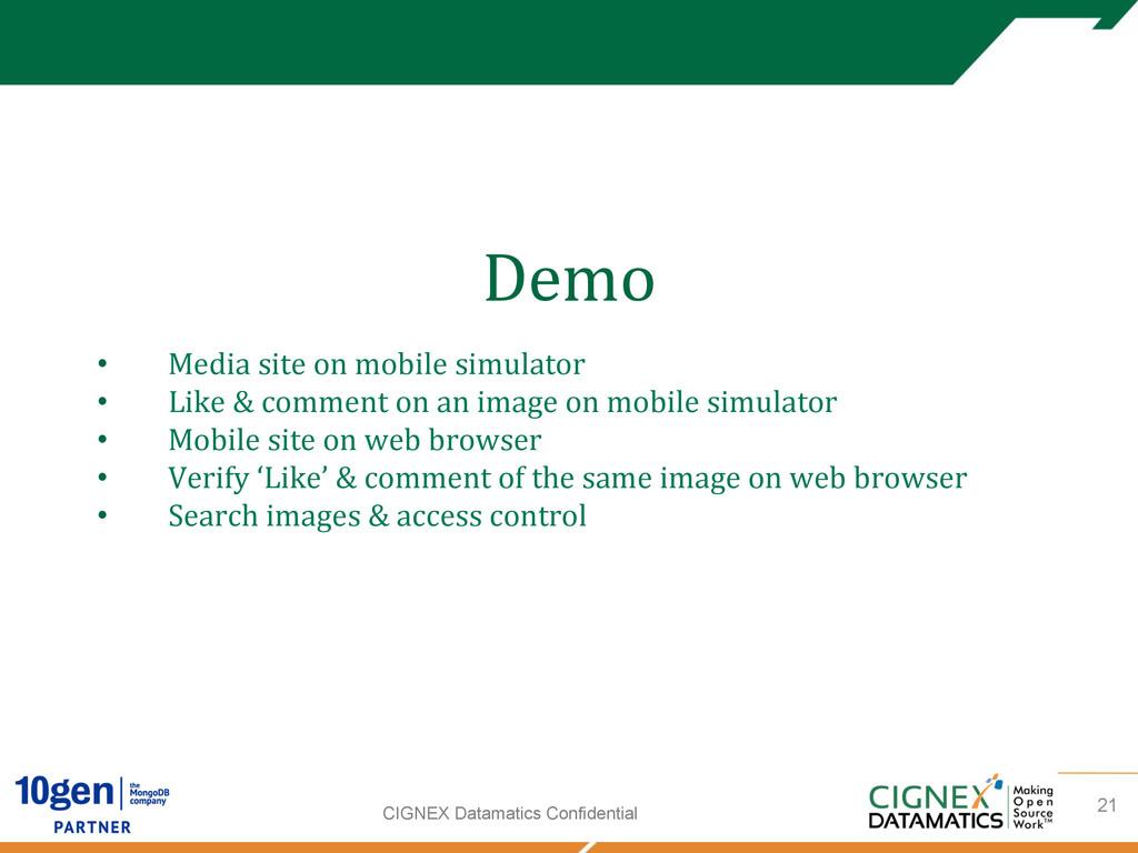 CIGNEX Datamatics Confidential Demo     ...