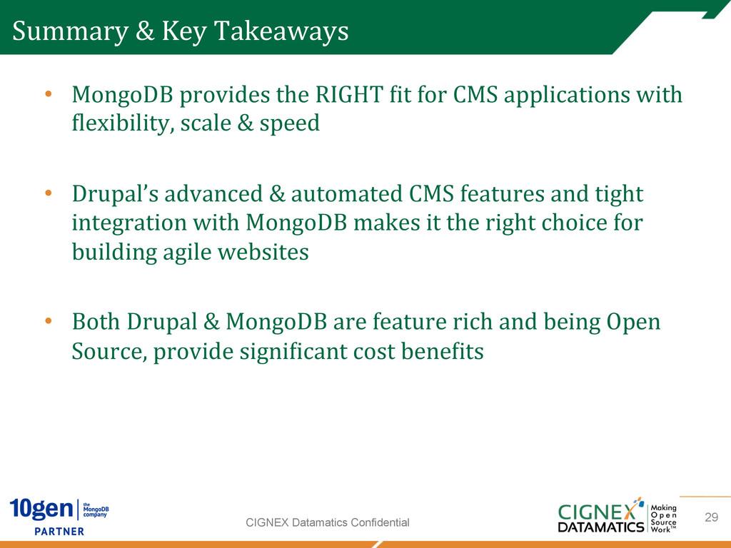 CIGNEX Datamatics Confidential Summary & ...