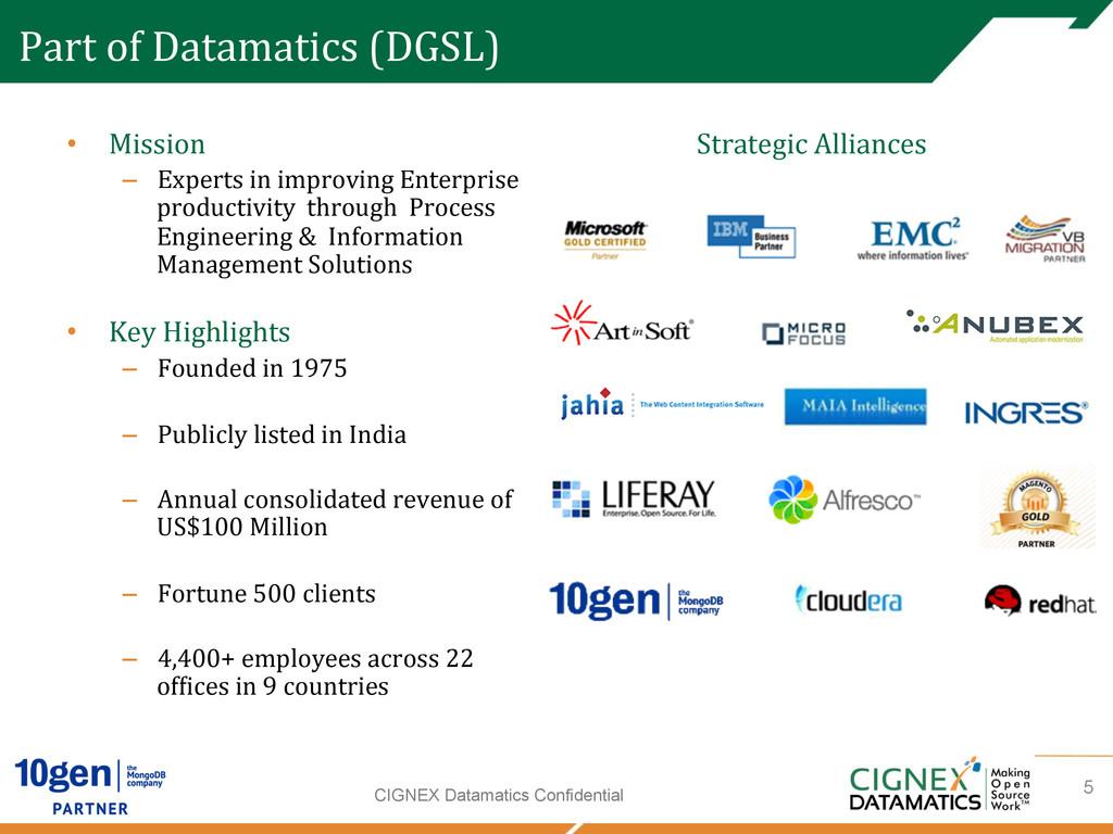 CIGNEX Datamatics Confidential Part of Da...