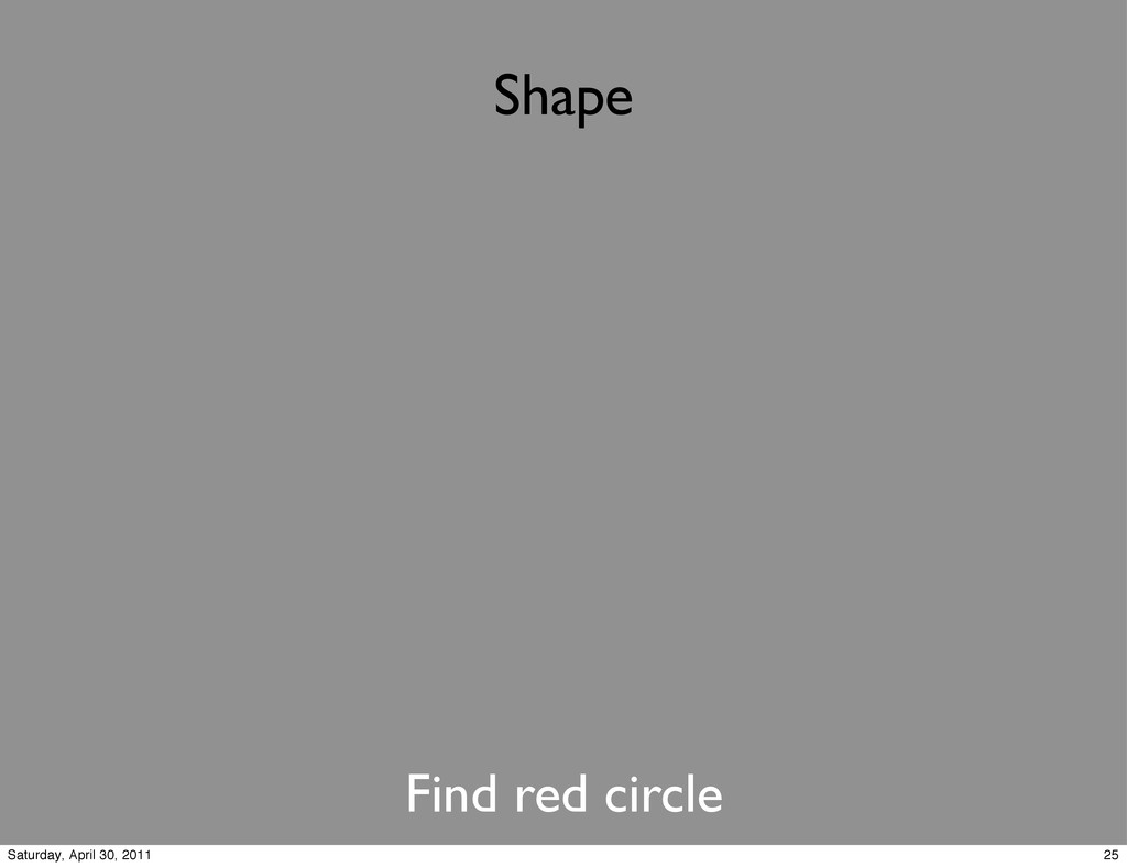 Shape Find red circle 25 Saturday, April 30, 20...