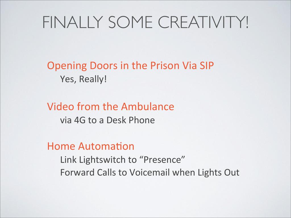 FINALLY SOME CREATIVITY! Opening Doors in...