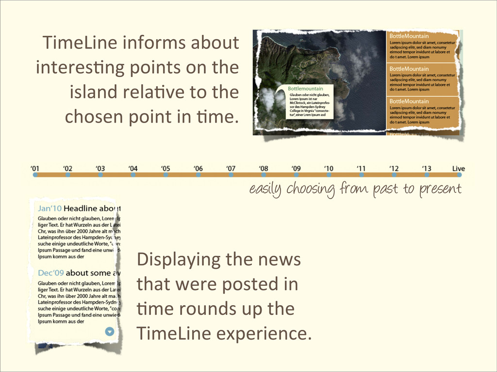 TimeLine informs about  interes@ng ...