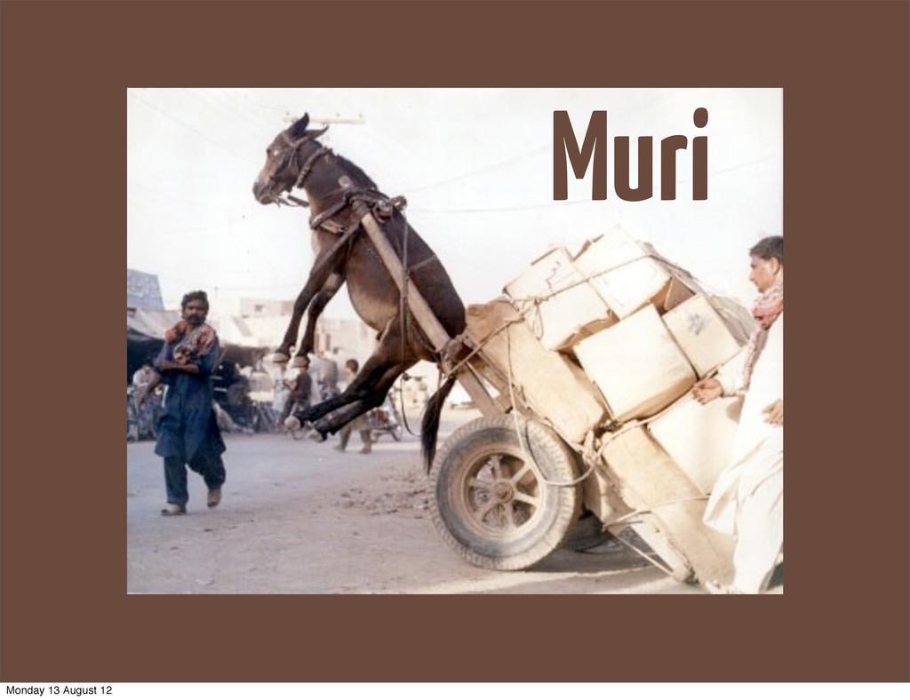 Muri Monday 13 August 12