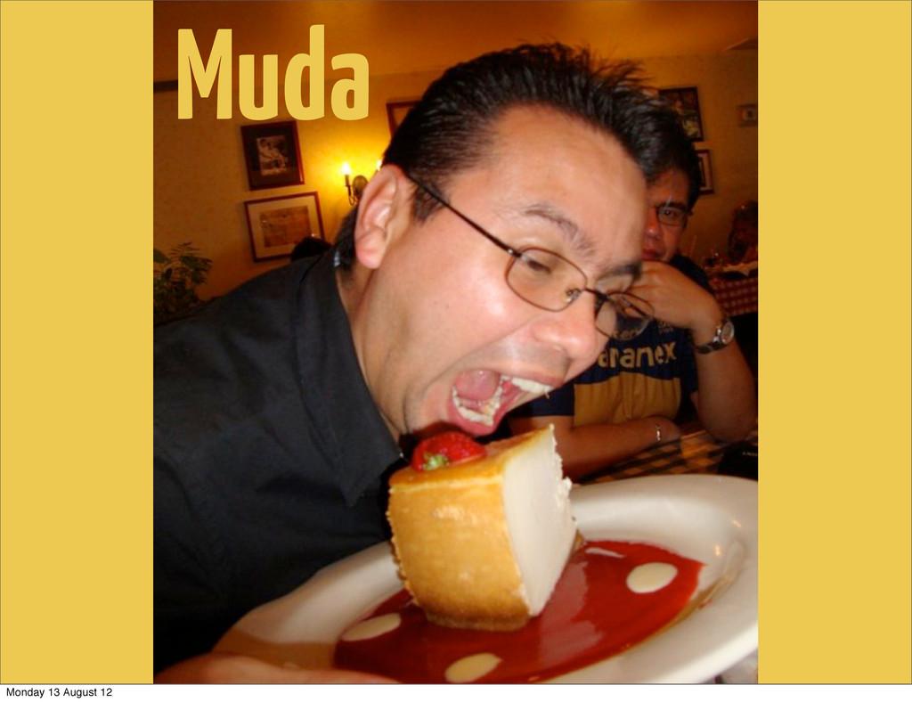 Muda Monday 13 August 12