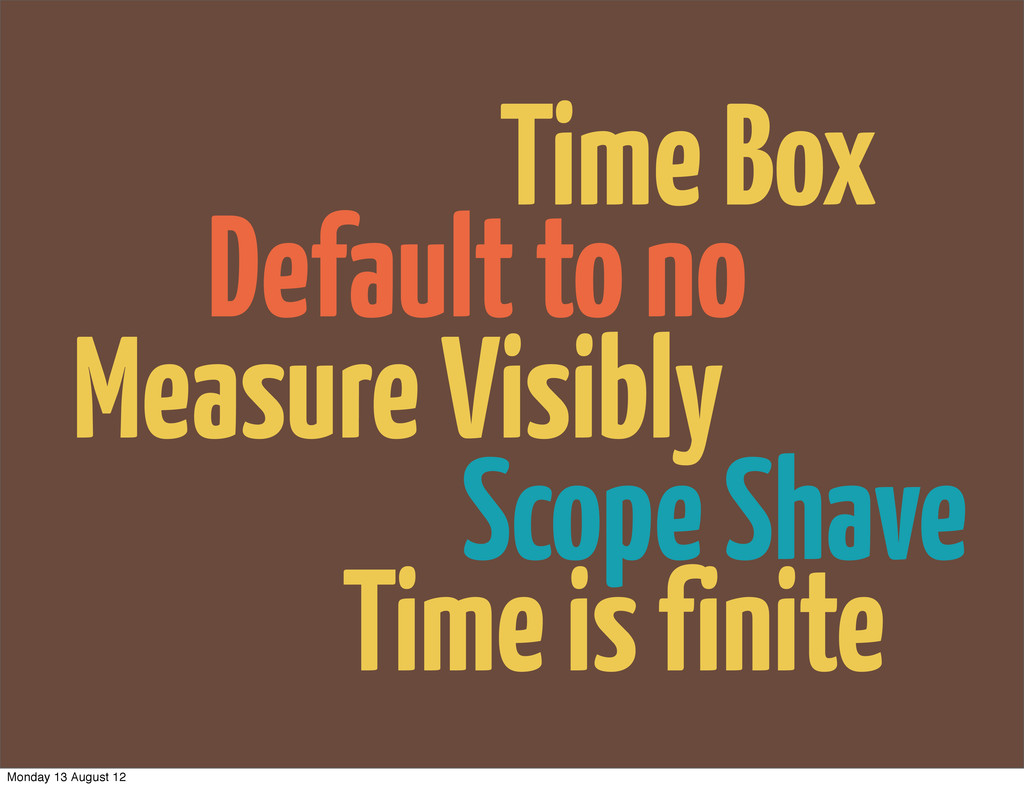 Default to no Scope Shave Measure Visibly Time ...