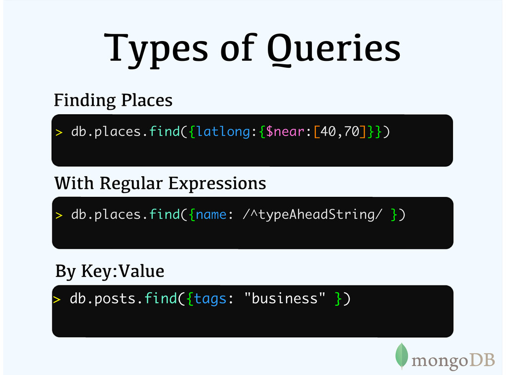 Types of Queries Finding Places With Regular Ex...