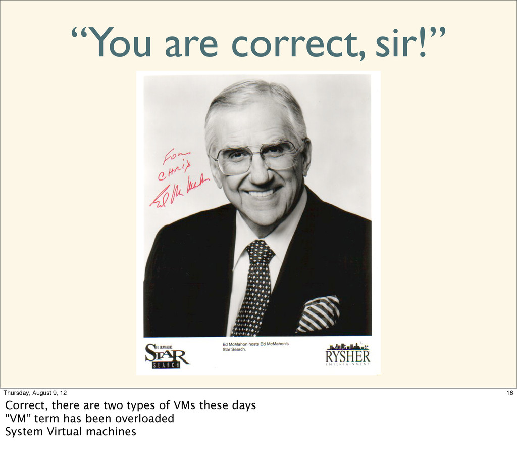 """You are correct, sir!"" 16 Thursday, August 9, ..."