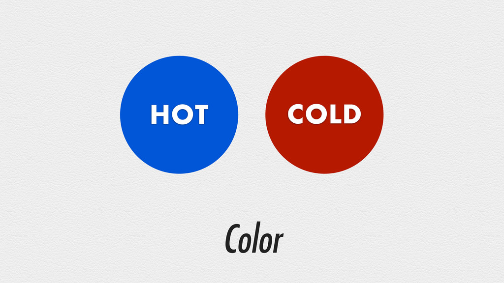 Color HOT COLD
