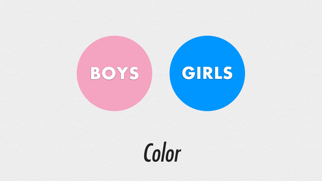 Color BOYS GIRLS