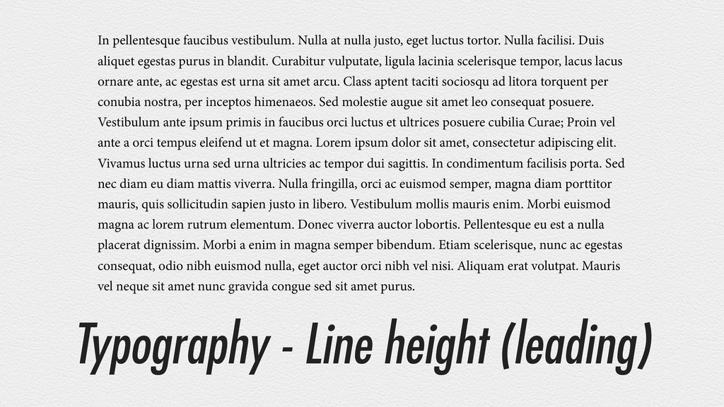 Typography - Line height (leading) In pellentes...