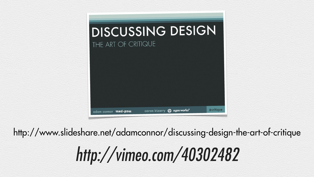 http://vimeo.com/40302482 http://www.slideshare...