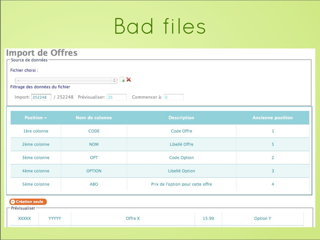Bad files