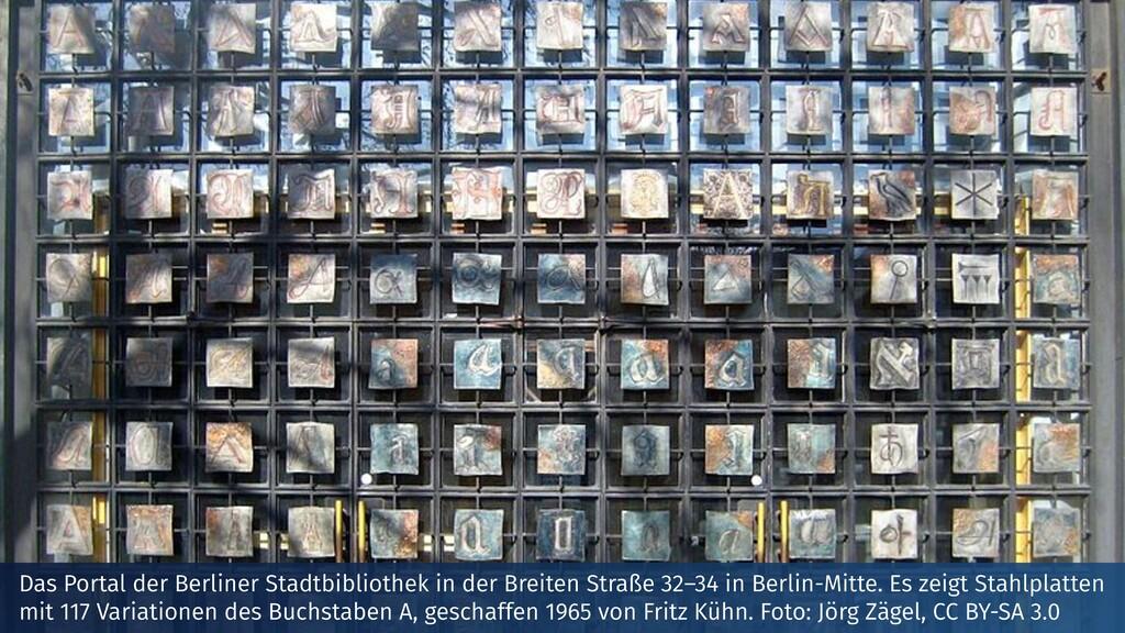Das Portal der Berliner Stadtbibliothek in der ...